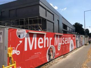 Vermarktung Neubau Erweiterung Sprengel Museum Hannover Bauzaun-Realisation